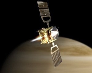A graphic of Japan's Akatsuki spacecraft, which will reattempt an orbit around Venus in late 2015. Source: JAXA