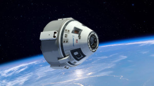 CGI-imagery of Boeing's CST-100 spacecraft, also designed to carry astronauts to the ISS. Credit: Boeing