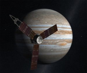 An artist's rendition of NASA's Juno spacecraft at Jupiter. Source: NASA