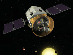 A rendering of the TESS space telescope, set for launch in 2017, Source: NASA