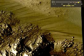 """Recurring slope lineae"" on Mars. Source: NASA"