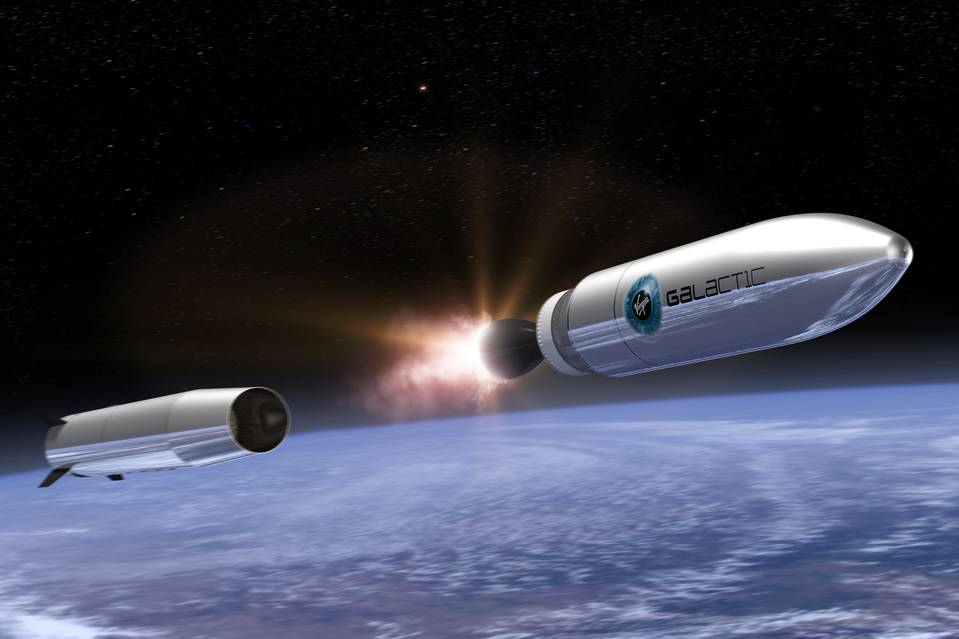 "Virgin Galactic's ""Launcher One"" small-satellite vehicle, currently in development. Source: Virgin Galactic"