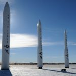A Peacekeeper (left) and Minuteman ICBMs, among those proposed for commercial use. Source: US Air Force